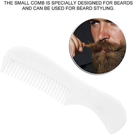 Juego de recorte de barba, tijeras, pinzas, bigote, kit de herramientas, cepillo de barba profesional, peine de peinado para hombres, salón de belleza ...