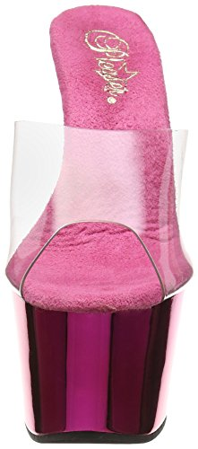 Pleaser Adore-701 - Sandalias Mujer Pink (Pink (Clr/H. Pink Chrome))