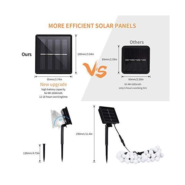 41wEeuEGgTL LED Kugel Solar Lichterkette Aussen 11M,DeepDream 60LED USB Globe Lichterkette 8 Modus Wasserdicht, Innen und Außen für…