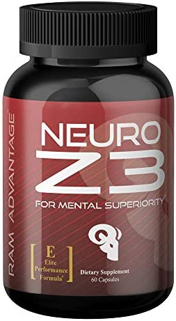 Neuro Z3 by RAM ADVANTAGE Superior Brain Performance Designed to Support Memory, Focus, and Mental Clarity 60 ct