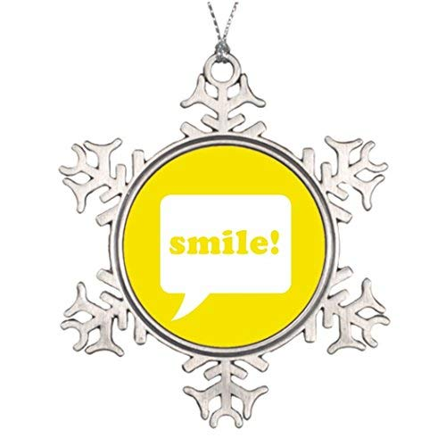 OneMtoss Christmas Snowflake Ornament Large Christmas Tree Decorations Smile! Halloween Snowflake Ornaments Smile