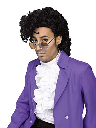 Fun World Men's Purple Pain Wig, Black, Standard