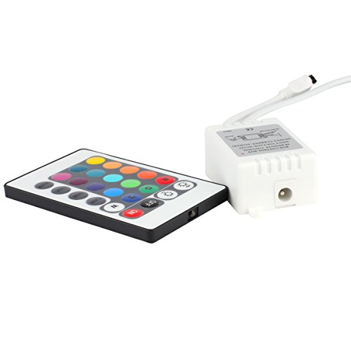 EPBOWPTDC-12V-24-Key-LED-Strip-IR-Remote-Controller-with-Controller-Box-for-3528-5050-SMD-RGB-LED-Strip-Lights