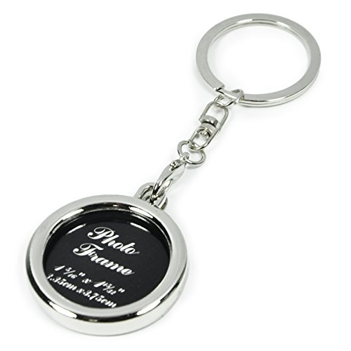 Small Picture Frame Key Chain Ornament (Circle)