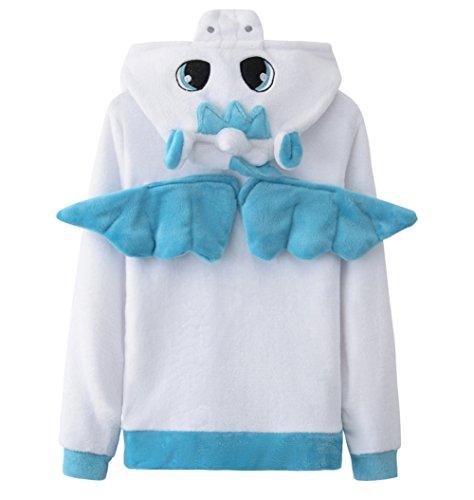 a28fcb218 AooToo Unicorn Hoodie Sweatshirt for Girls Juniors Kids Cartoon Costume  Jackets(Unicorn Blue, L