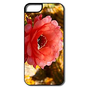 IPhone 5 5S Hard Plastic Cases, Cactus Blossom White/black Cases For IPhone 5
