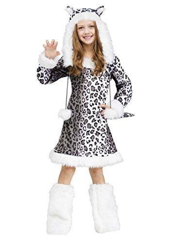 Big Girls' Snow Leopard Costume - M -