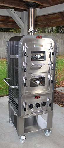 EcoQue Artisan Wood-Fired Pizza Oven & Smoker Generation 2 w/ Stainless Steel Cart