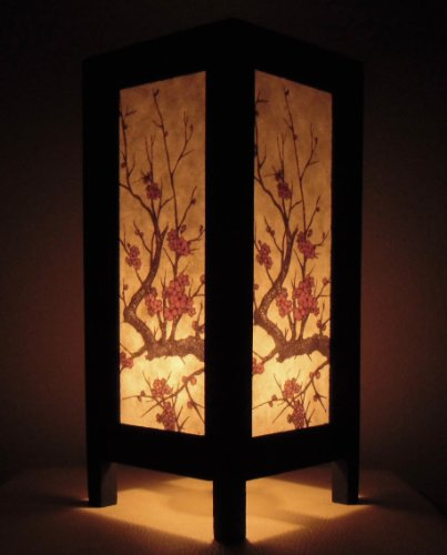 Thai Vintage Handmade ASIAN Oriental Handcraft TREE GOLD Art Buddha Style Bedside Table Light or Floor Wood Lamp Home Bedroom Decor Modern Design from Thailand by Red berry Thailand Lanna Lamp