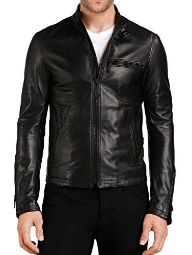Mens-Slim-Genuine-Lambskin-Leather-Designer-Motorcycle-Jacket-LF661