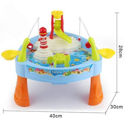 SULULU Juguete de la Pesca, Juguete del baño del bebé Juego de Pesca de la Red magnética Pesca Aprendizaje de la...