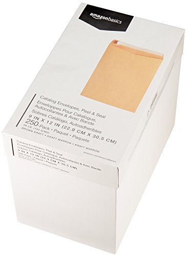 AmazonBasics Catalog Envelopes, Peel & Seal, 9 x 12 Inch, Brown Kraft, 250-Pack Photo #5