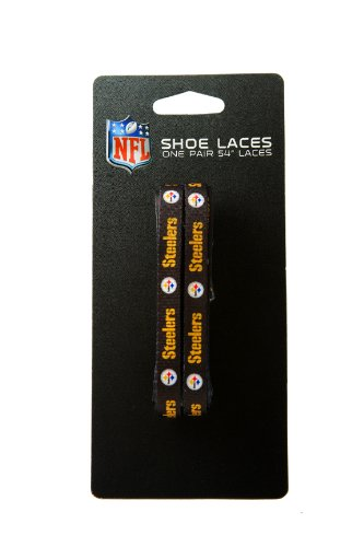 NFL Pittsburgh Steelers Black 54-Inch LaceUps Shoe Laces - Logo Shoelaces