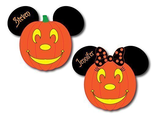 HANDMADE Disney Inspired Halloween Pumpkin Mouse Head Magnets for Disney Cruise -