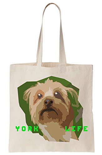 Bag Life Yorkshire Canvas Terrier Artwork Tote York wT6xqY7S6