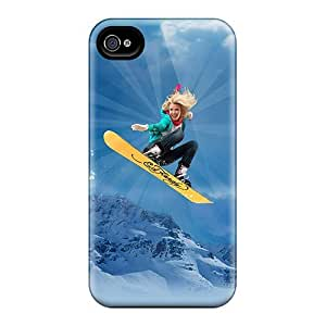 For Iphone Case, High Quality Ed Hardy Snowboarding For Iphone 4/4s Cover Cases