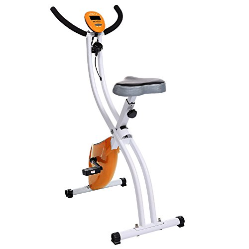 Gracelove Ultra Home Gym Office Sport Trainer Bike with hand pulse sensors with/without backrest (Orange2, without backrest)