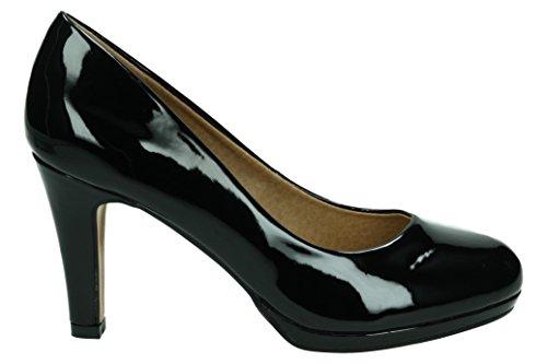 MTNG Originals 61303, Zapatos de Tacón con Punta Cerrada para Mujer Negro
