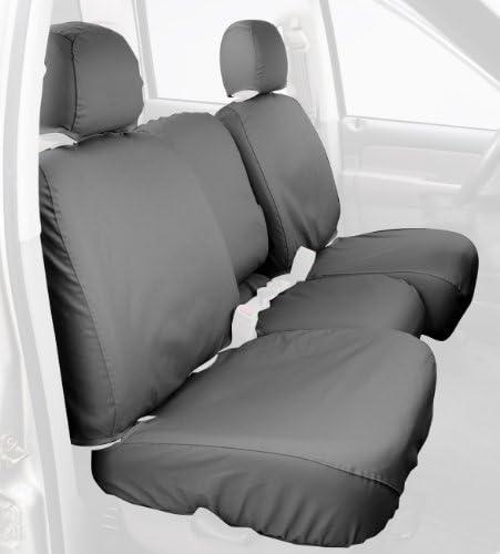 B000CISG1A Covercraft Custom-Fit Rear-Second Seat Bench SeatSaver Seat Covers - Polycotton Fabric, Grey (SS8348PCGY) 41wEjNKugnL