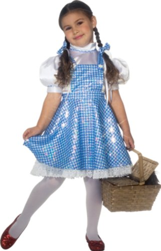Toddler Girl'S Costume: Wizard Of Oz Dorothy Deluxe 2T-4T - Product Description - Sequin Blue Gingham Dress And Hair Bows. Stockings, Shoes And Basket Not Included. Toddler Fits Girl'S Size 2T/4T. ...