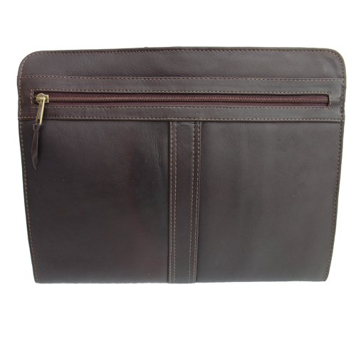 Piel Leather Three-Way Envelope Padfolio, Chocolate, One Siz