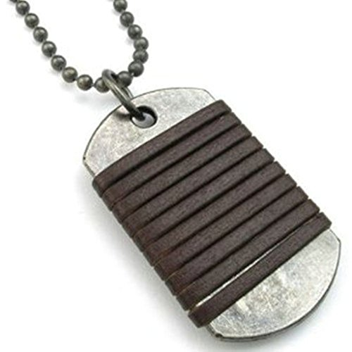 Epinki Unisex Pendant, Stainless Steel Dog Tag Necklace 3048MM