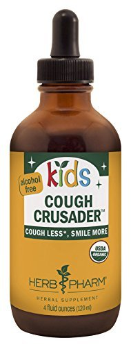 Cough Formula - Herb Pharm Kids Certified-Organic Alcohol-Free Cough Crusader Herbal Formula, 4 Ounce by Herb Pharm