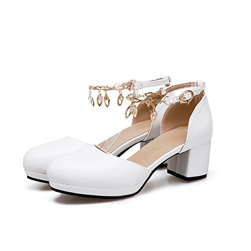 Femme Sandales EU 5 Blanc 36 AN DIU01086 Compensées Blanc zfpFwq
