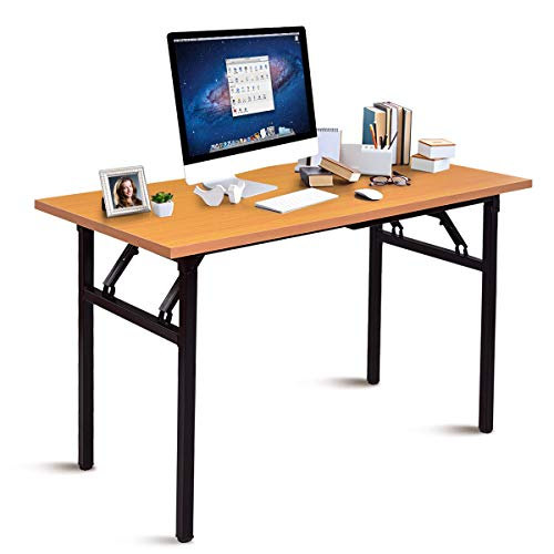 GJH One Table Writing Workstation Folding Computer Desk PC Laptop Home Office Furniture