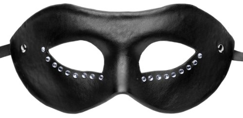 GreyGasms Faux Leather Luxoria Masquerade Mask, Black