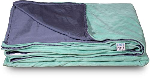 Cheap Active Corner Cozy Mill 60x80 Weighted Blanket Duvet Cover Made from Premium Soft Minky and Bamboo for Year Round Comfort | Machine Washable for Easy Maintenance (Sea Green) Black Friday & Cyber Monday 2019