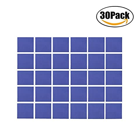 COOLOOdirect 30Pcs 15x15x1mm Soft Silicone Thermal Conductive Pads Heatsink IC Chipset Northbridge for CPU GPU (Silicon Thermal Pad)