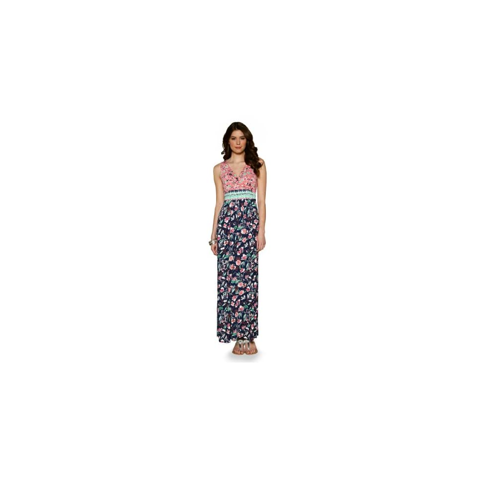 Monsoon Womens Virginia Maxi Dress Size 12 Multi