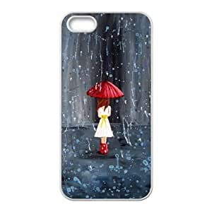 Custom Case for iPhone 5,iPhone 5s w/ Polka Rain image at Hmh-xase (style 10)