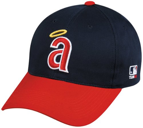 fan products of California Angels Adult Cooperstown Throwback Retro Officially Licensed MLB Adjustable Velcro Baseball Hat Ball Cap (Los Angeles Angels of Anaheim)