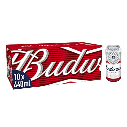 Budweiser Beer, 10 x 440 ml