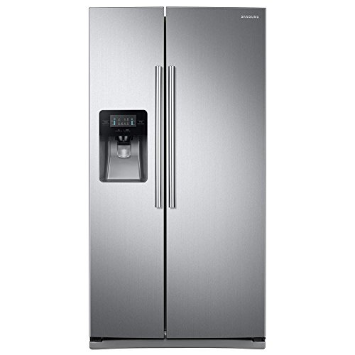 "Samsung RS25J500DSR 36"" Freestanding Side by Side Refrigerator with 24.52 cu. ft. Capacity,"