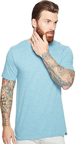 new-hurley-mens-staple-tri-blend-v-neck-ss-tee-blue