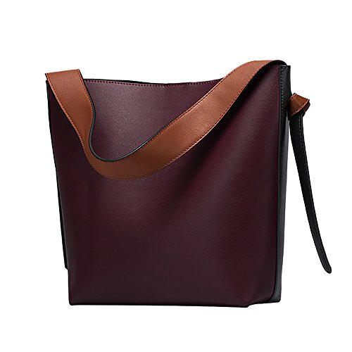 Sale Contrast Leather Shoulder Handbags