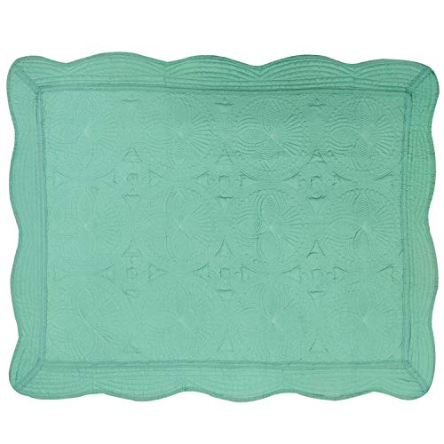 "USTIDE Washable Breathable Cotton Blanket for Babies,Super Soft Washable Blanket for All Seasons,35.8""x45.3"" Green"