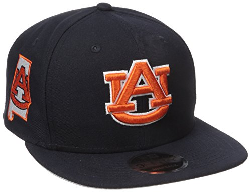 NCAA Auburn Tigers State Clip Snap 9FIFTY Cap, One Size, Navy -