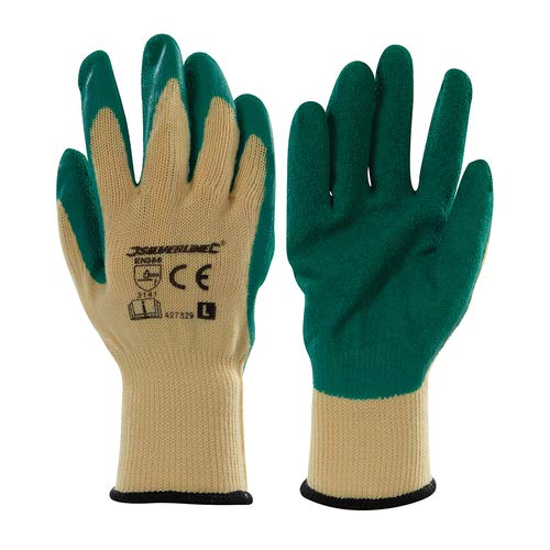 Gardening Gloves Large 10 Ideal for gardening. 10-gauge cotton interlocked liner shell and latex-dip
