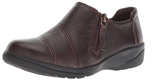 Clarks Women's Cheyn Clay Loafer, Brown Leather, 9 W US