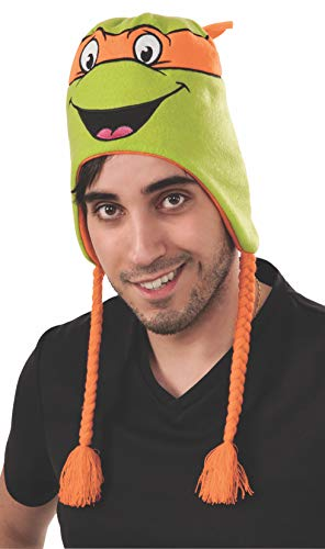 Rubie's Men's Teenage Mutant Ninja Turtles Michelangelo laplander Hat, As Shown, One Size -