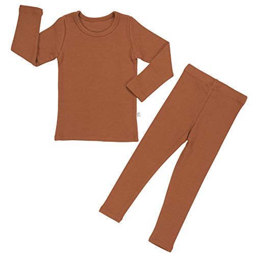Baby Boys Girls Pajama Set 6M-8T Kids Cute Toddler Snug fit Pjs Cotton Sleepwear (Camel-1 Small(80)/12-24Months)