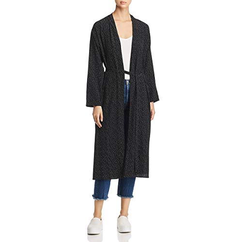 Eileen Fisher Womens Morse Code Printed Jacket Kimono Black M from Eileen Fisher