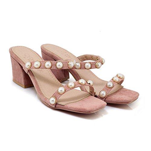Sandals Flop Women's Block Pink Qin Flip Heels amp;x 8xEqn7TS