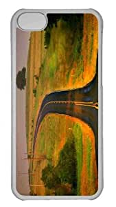 Customized iphone 5C PC Transparent Case - Curved Road Personalized Cover