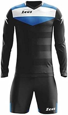 Zeus Kit GK Argo - Juego completo de portero de fútbol, futbolín, torneo, color negro y blanco, 2 unidades: Amazon.es: Deportes y aire libre
