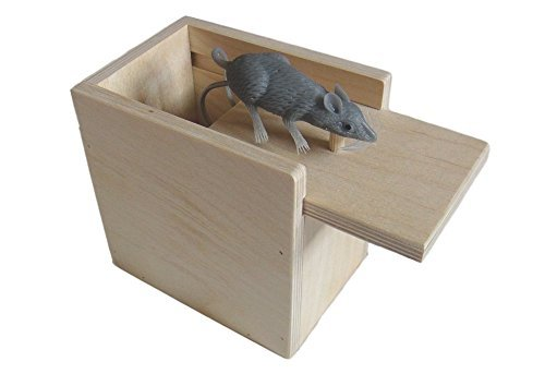 Wooden Surprise Box, Mouse, a Funny Practical Joke -